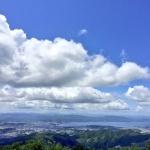 上らへんから見た松江市