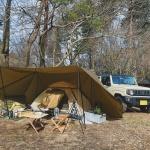 花粉症でもキャンプしに山に行く人